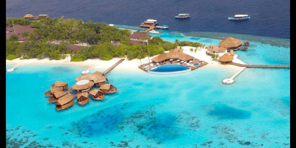 Lily Beach Resort - Spa and pool bar aerial view
