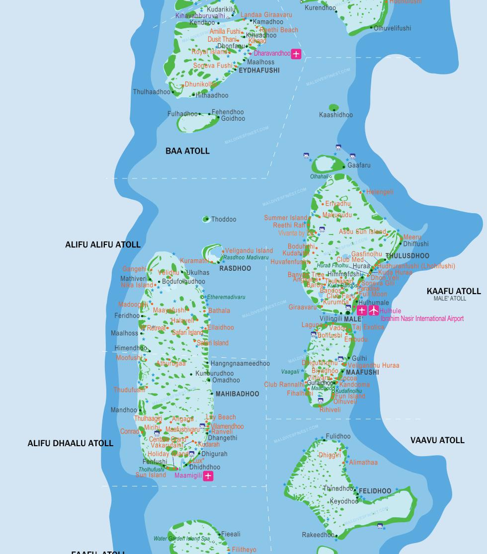 maldives islands map