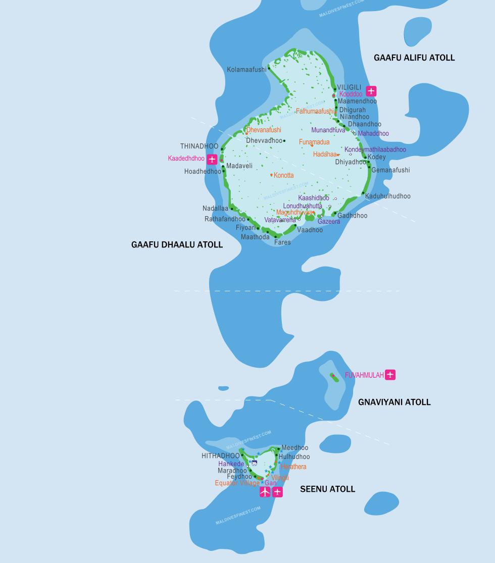 map maldives