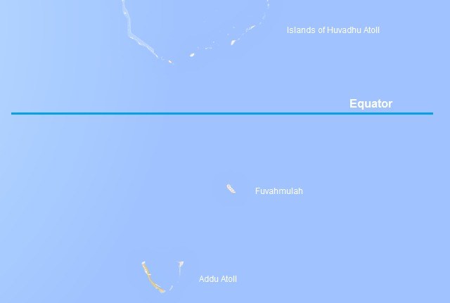 equator on maldives map