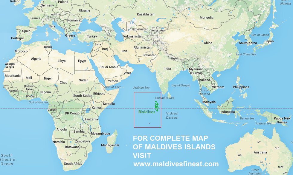 world map maldives