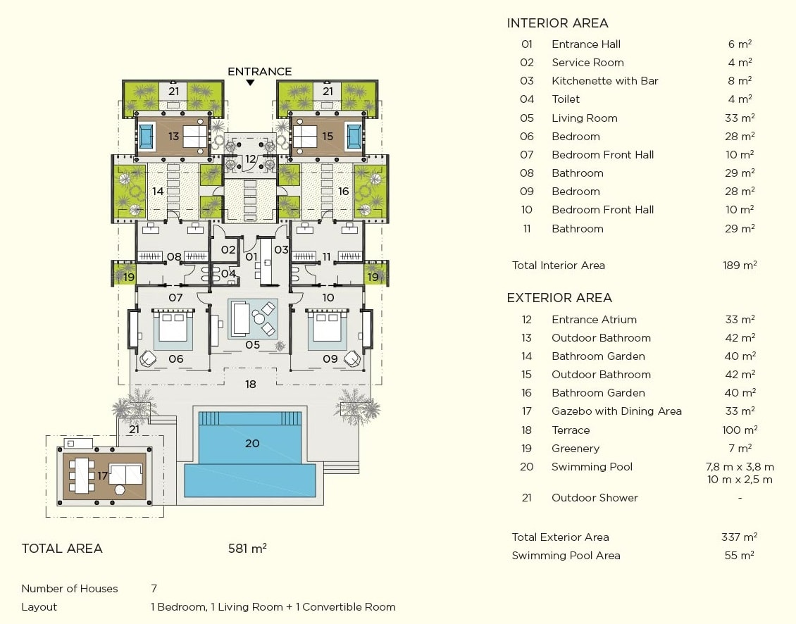 beach pool house floor plan map