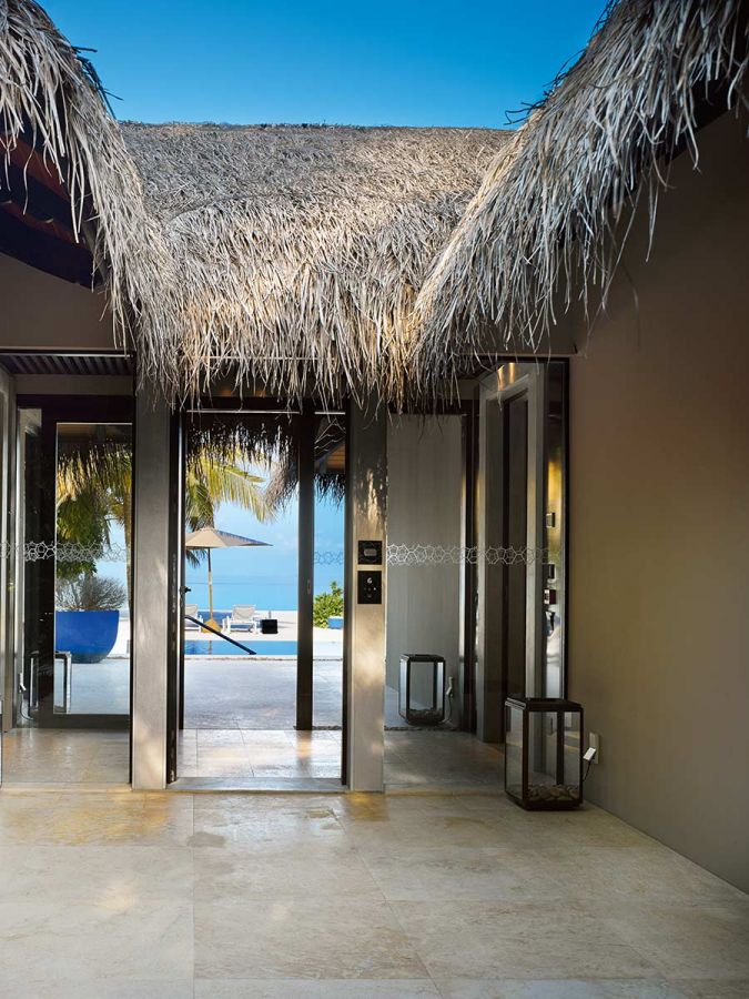 beach pool house roofing