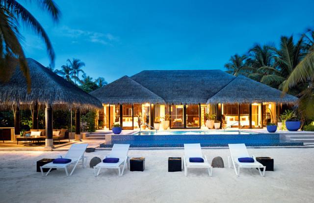 Velaa Island beach pool pavilion