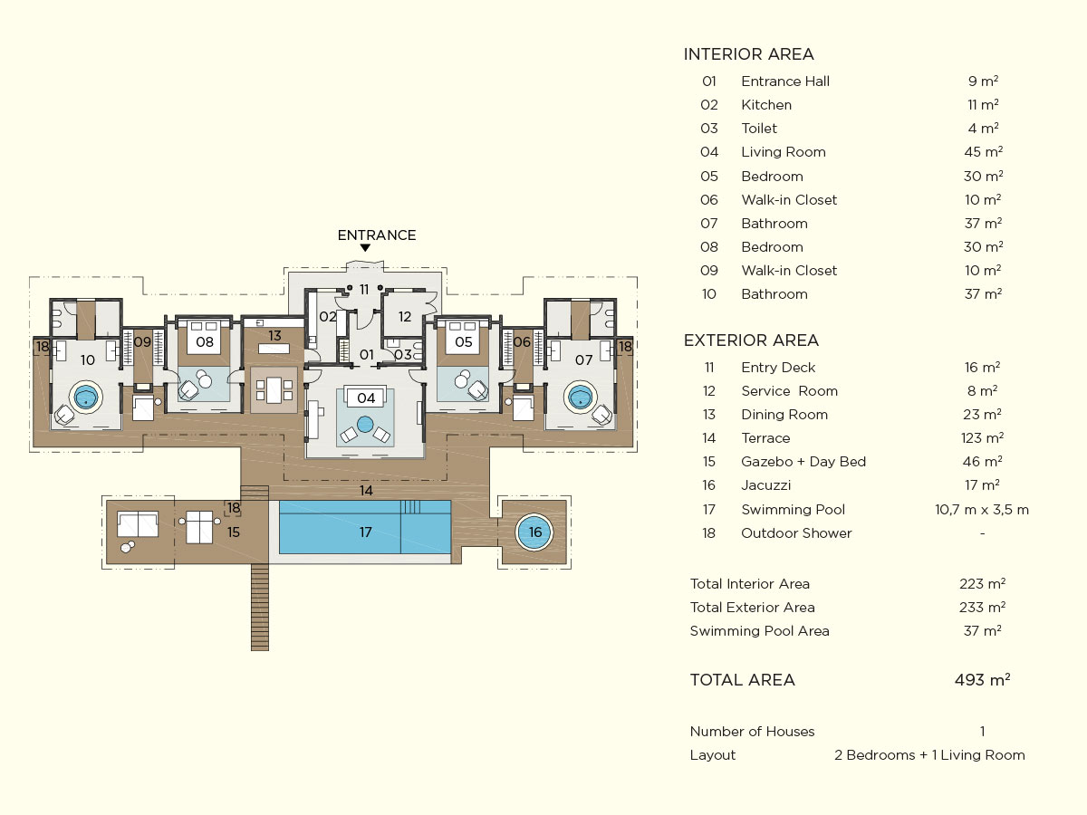 ocean pool house floor plan map