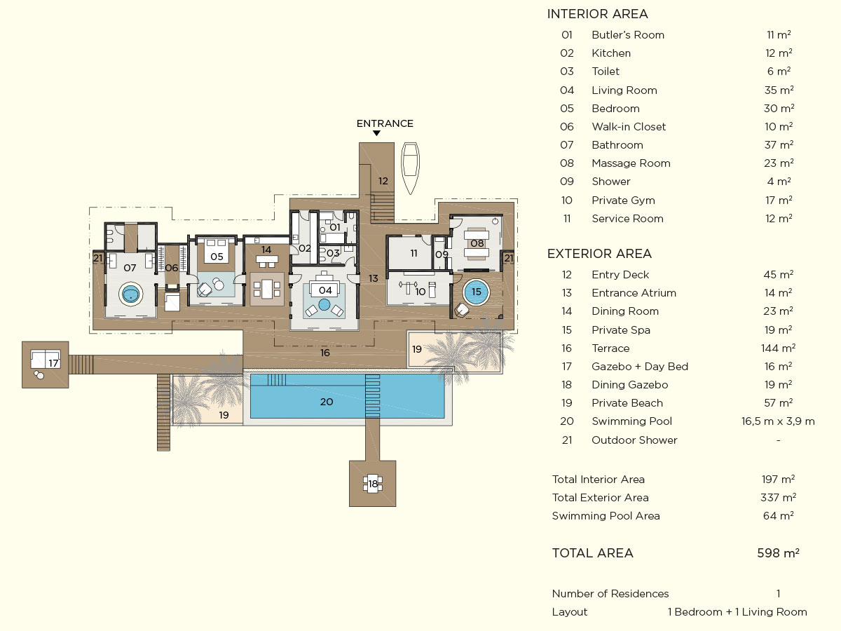 romantic pool residence floor plan map