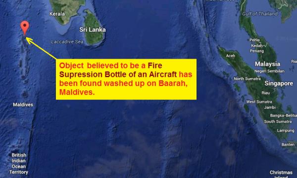 mh370 debris maldives