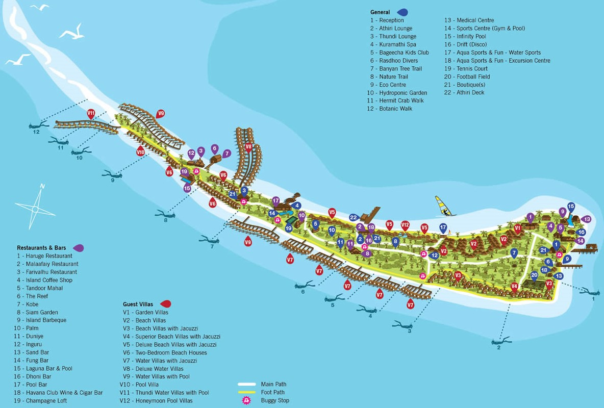 kuramathi resort map