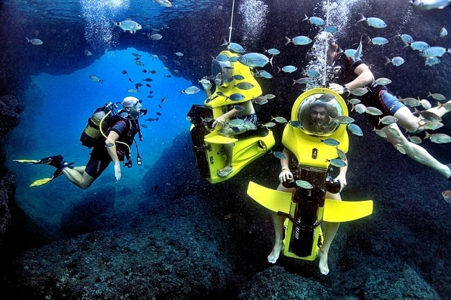 James bond style dive scooter comes to maldives for Dive scooter
