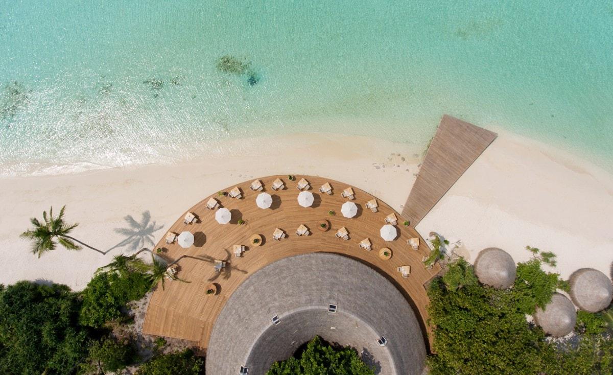 milaidhoo restaurant aerial