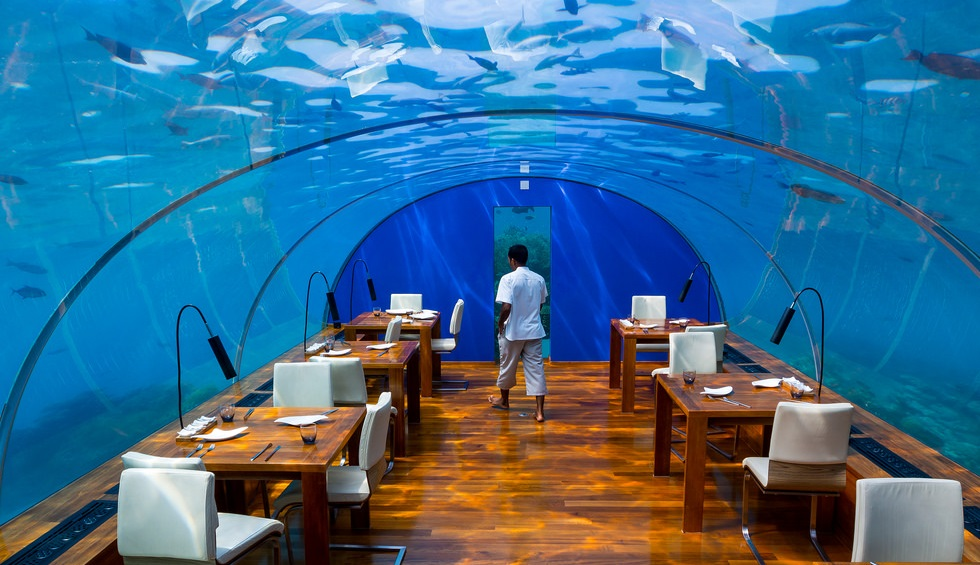 Worlds Largest Underwater Restaurant In Hurawalhi Island
