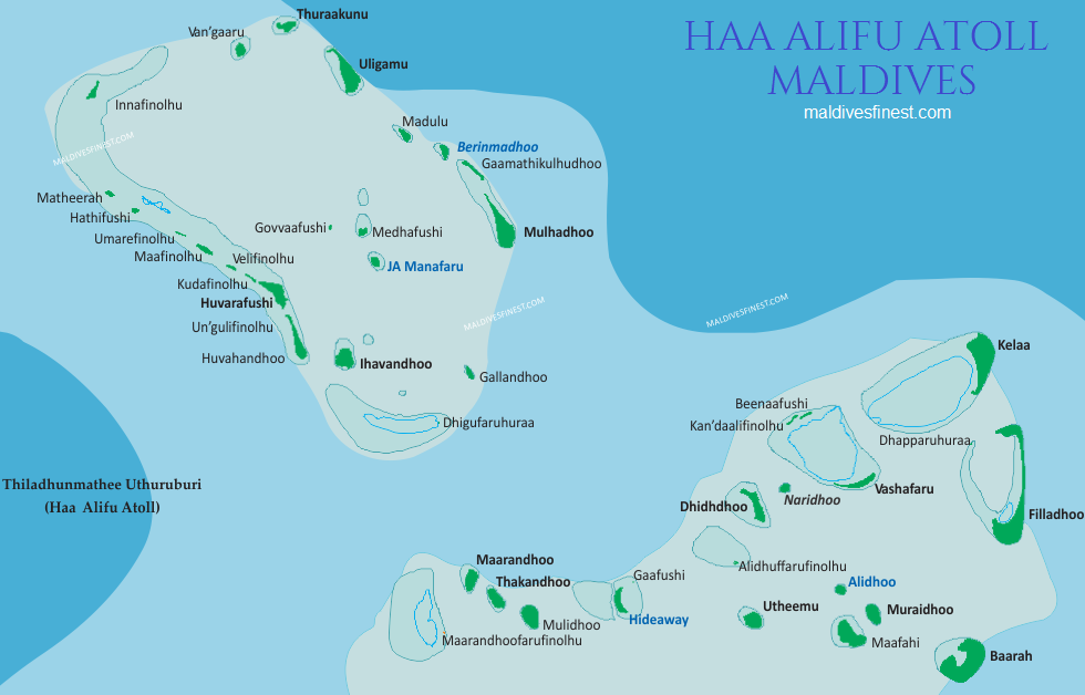 haa alifu atoll map