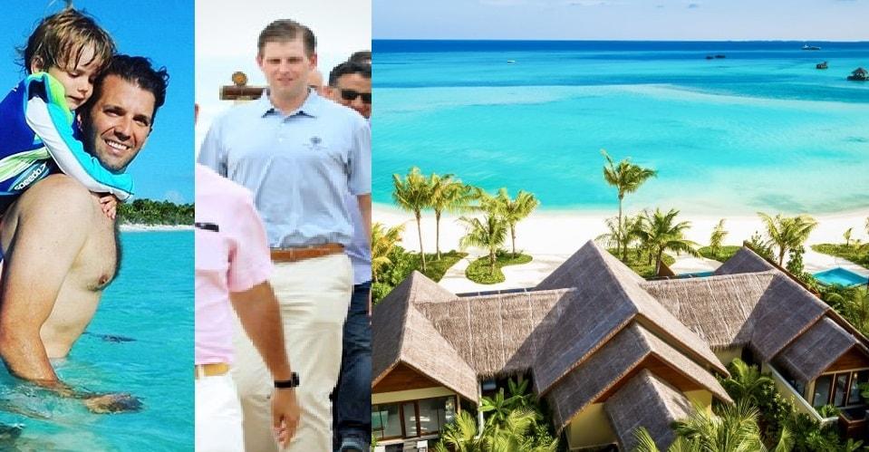 trump jr and eric trump maldives