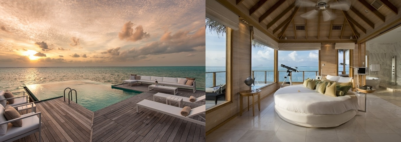 conrad maldives sunset water villa