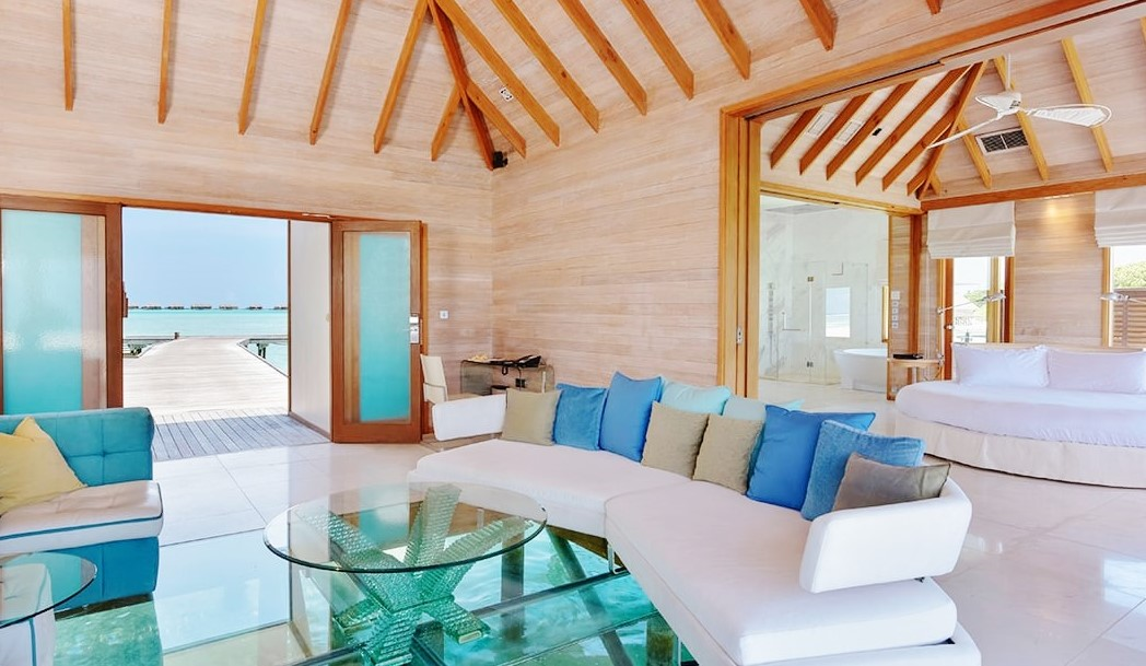 conrad sunset water villa glass floor