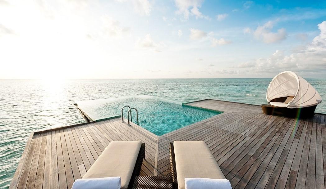 conrad sunset water villa pool