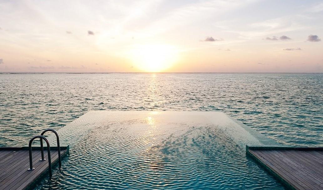 conrad sunset water villa sunset pool