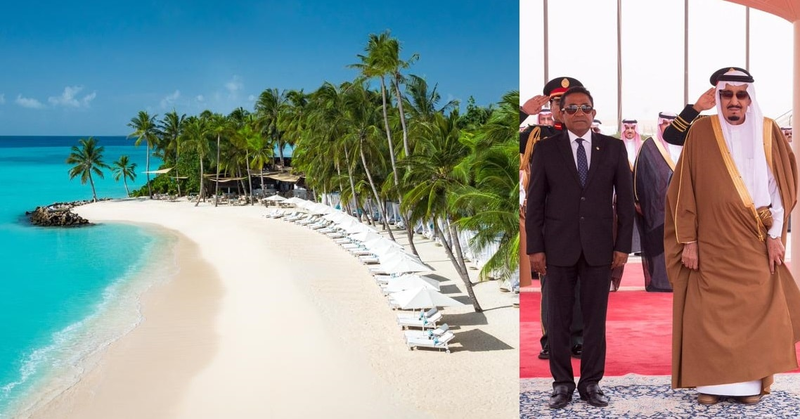 saudi king in reethi rah maldives