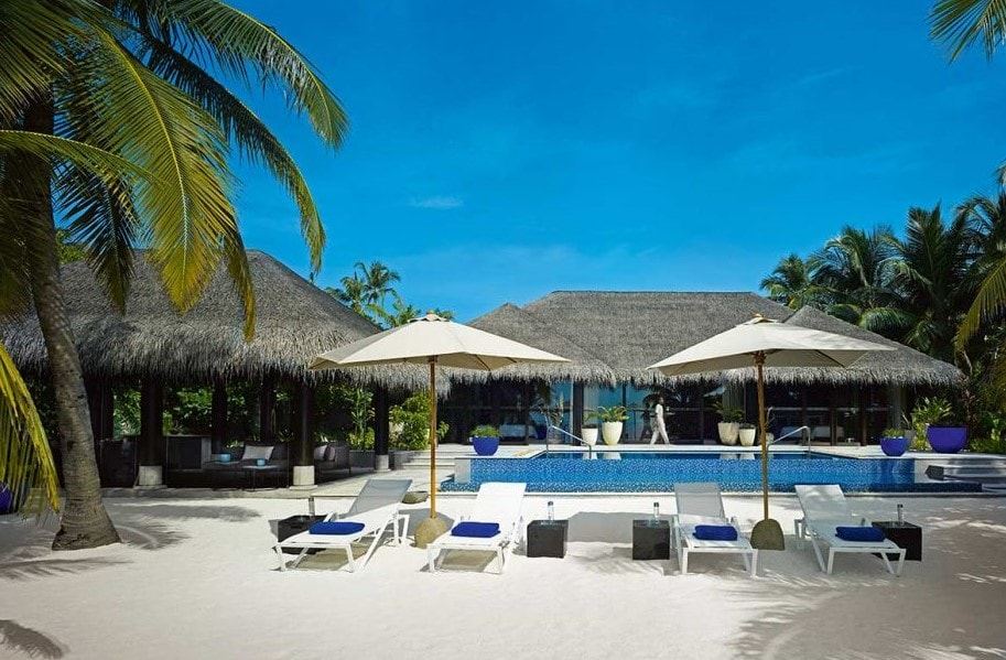 velaa private island beach pool house