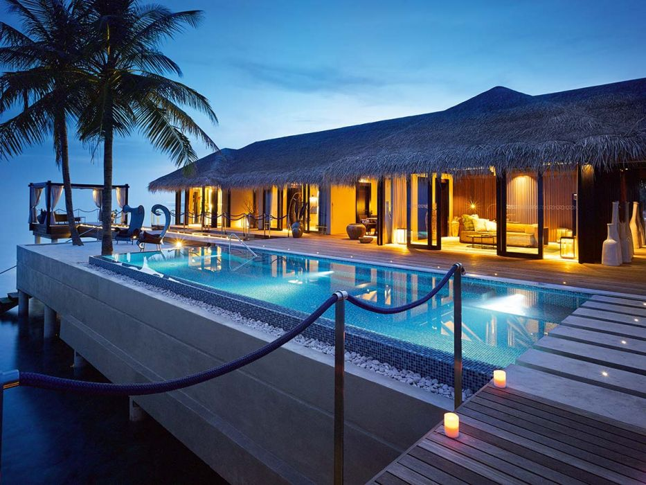 velaa private island romantic pool residence