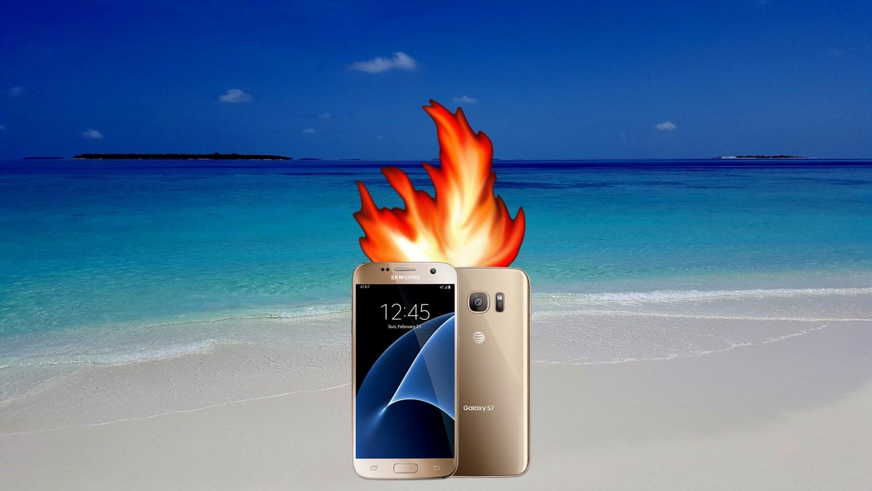 samsung galaxy s7 fire