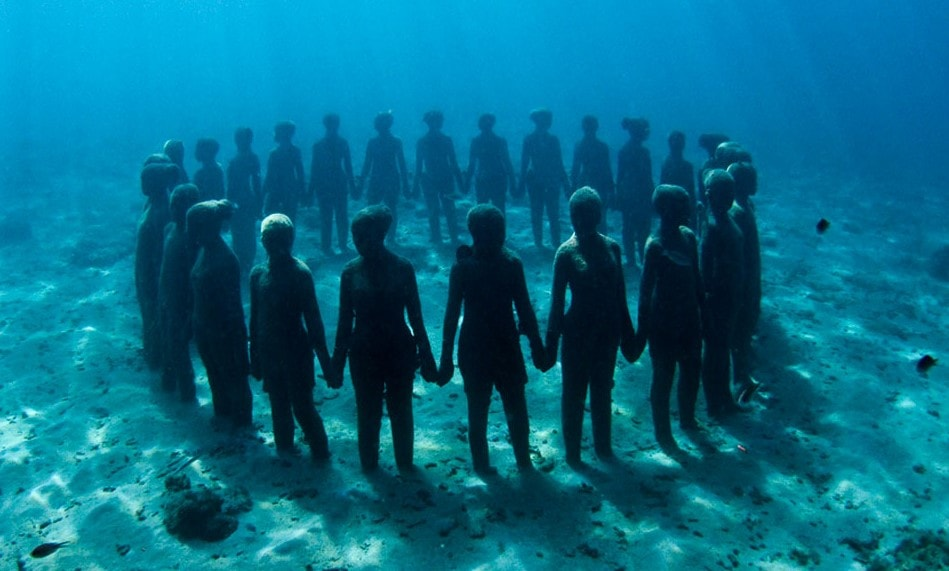 underwater sculptures