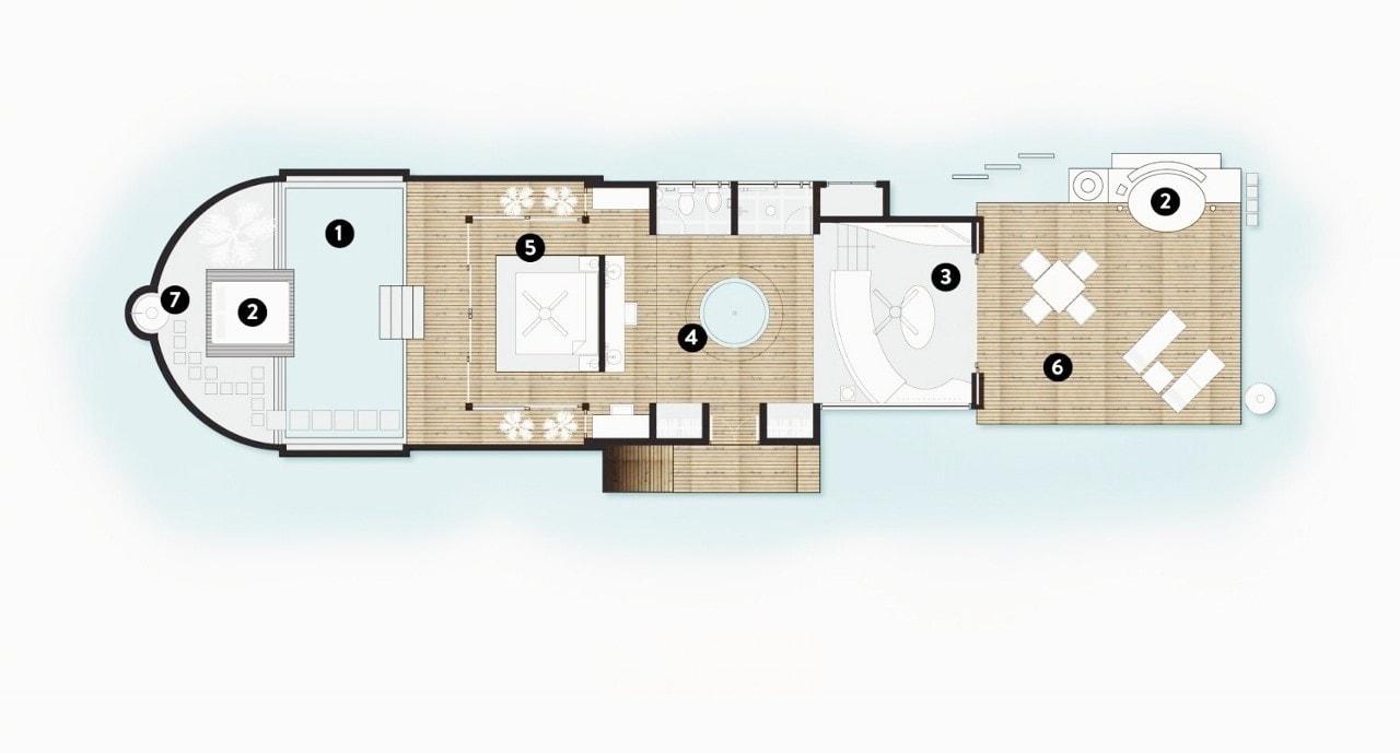 coco bodu hithi island villa floor plan