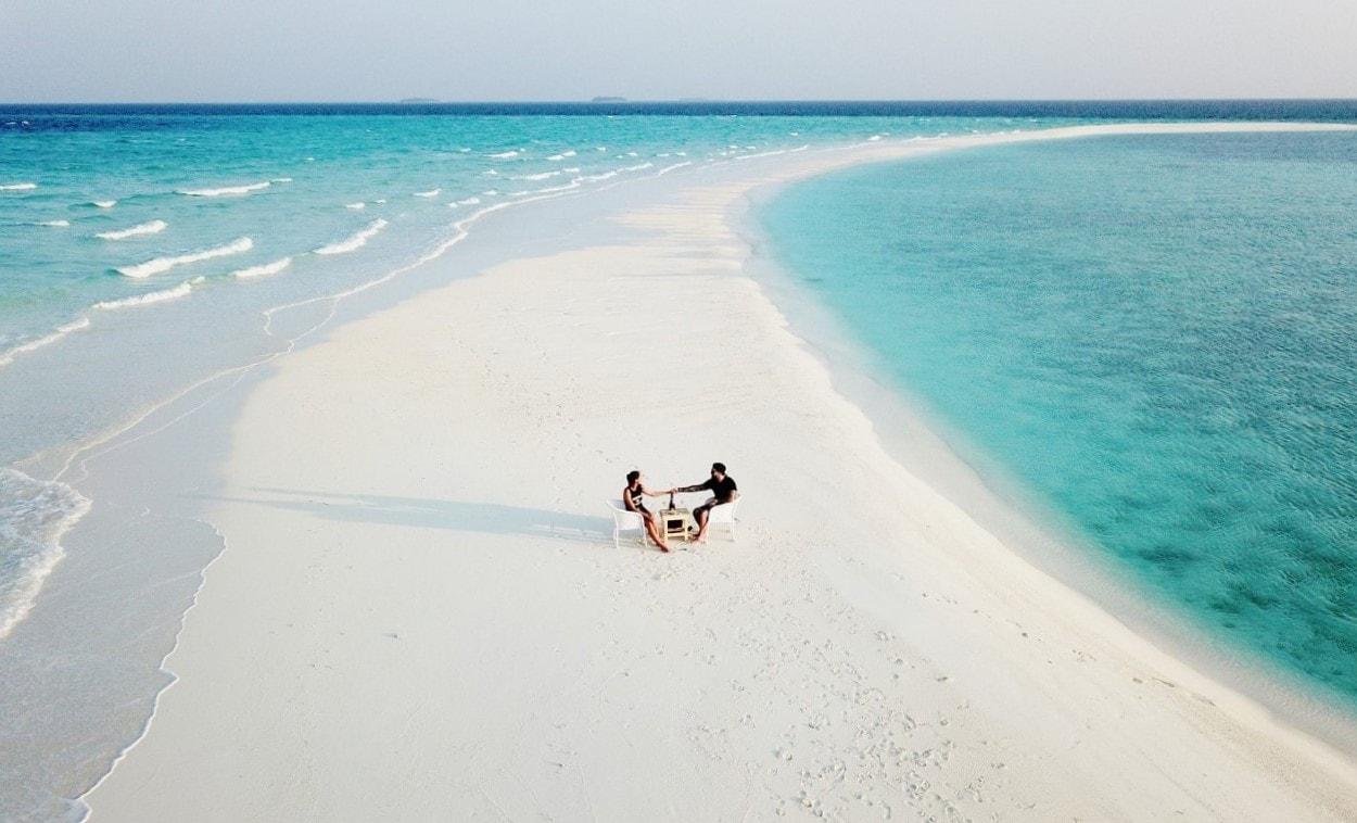 sandbank aerial photo