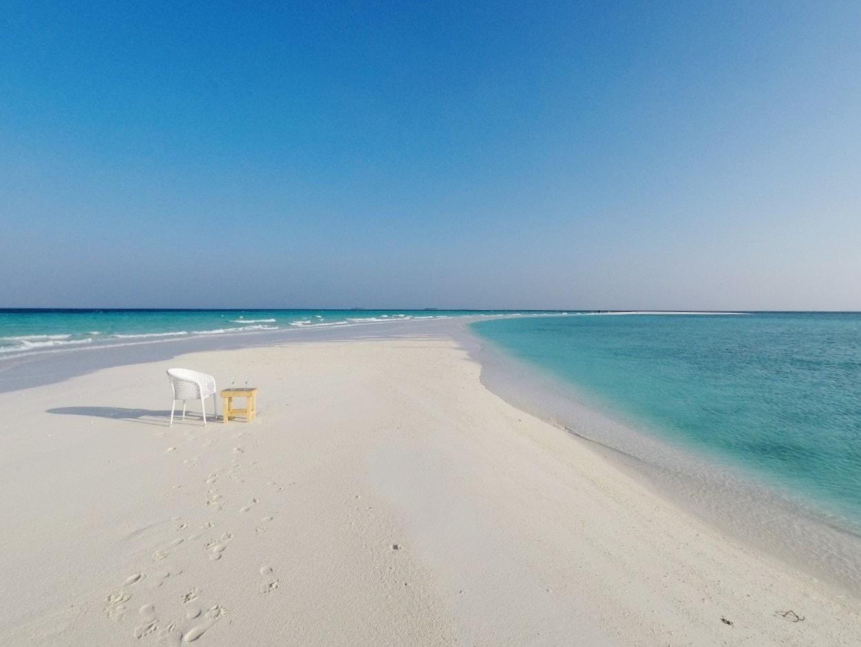 sandbank with chair