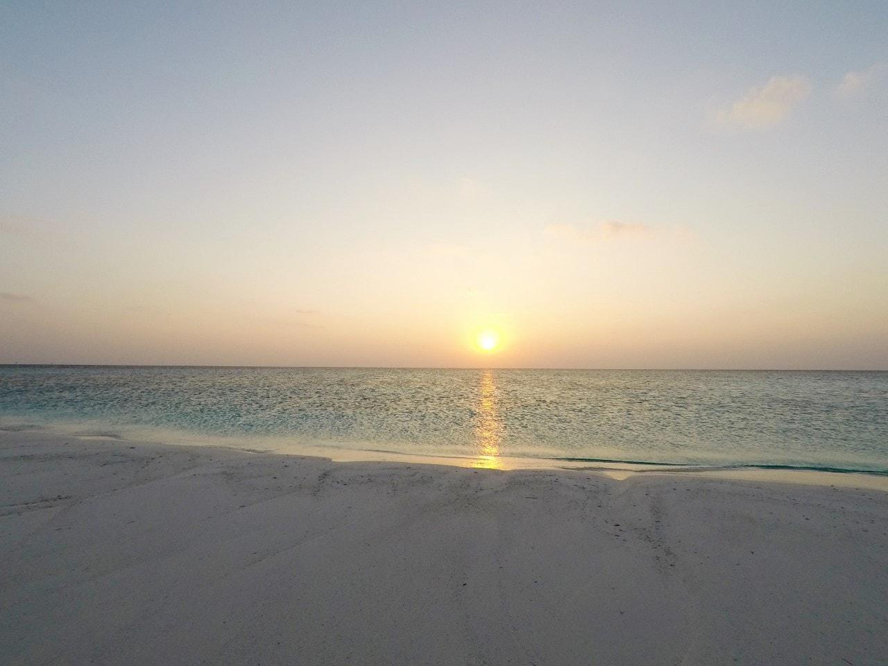sunset at sandbank