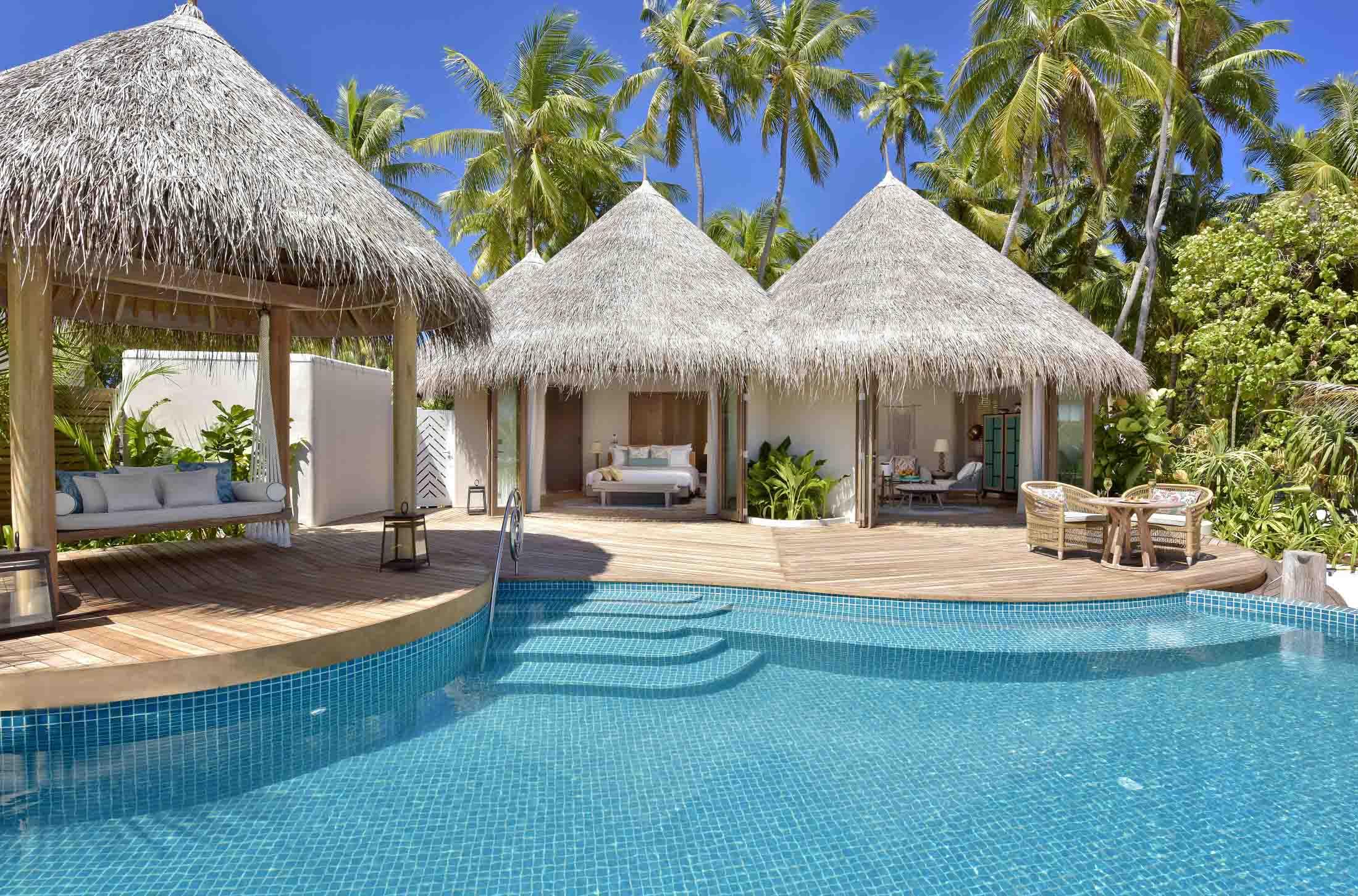 The Nautilus Maldives beach house exterior pool 2