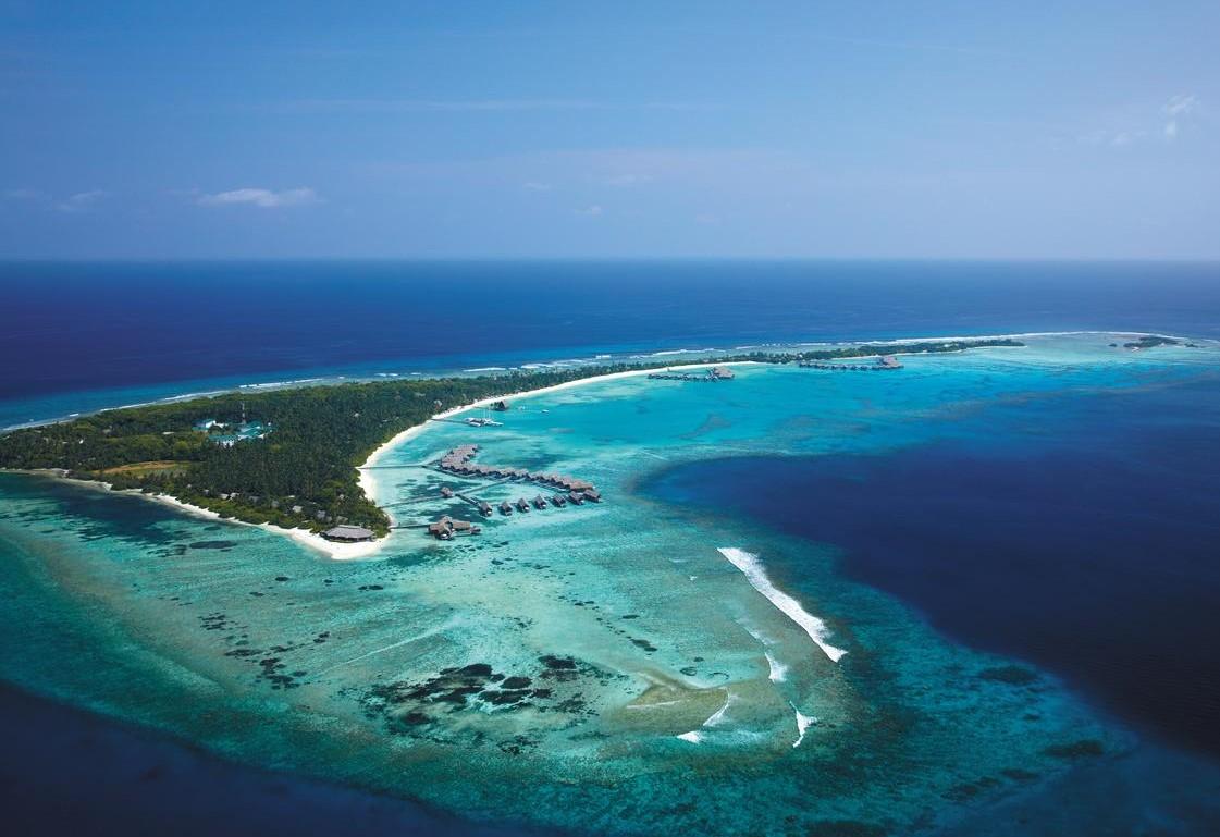 shangrila maldives aerial view