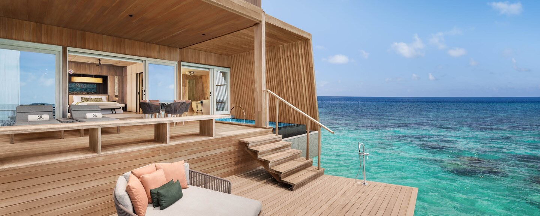st regis maldives sunset overwater 2 bedroom villa