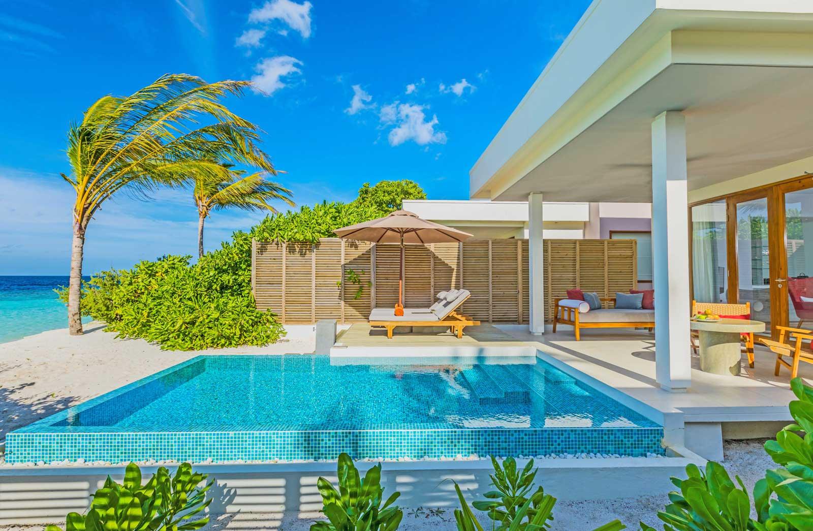 dhigali beach villa with pool