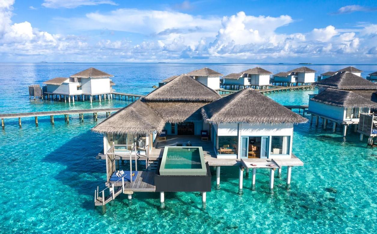 raffles maldives water villa