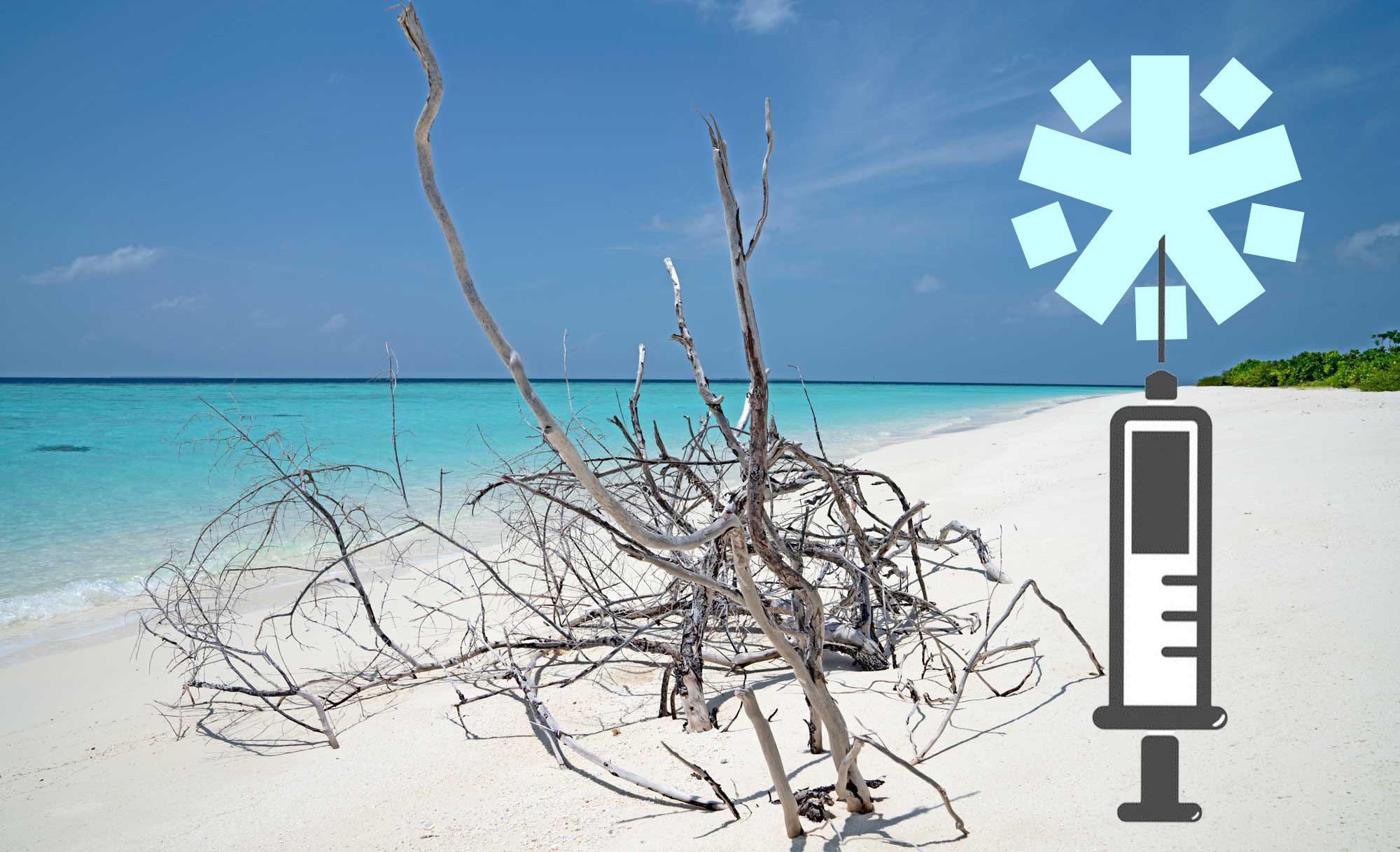 maldives beach covid19